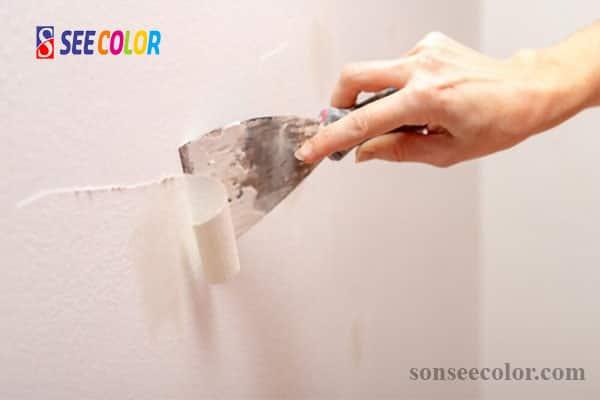 Sơn tường bị bong tróc phồng rộp và cách xử lý
