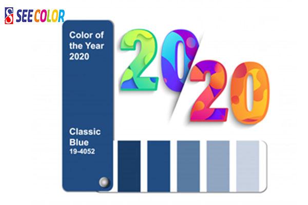 Màu sắc của năm 2020 là màu xanh dương Cổ Điển PANTONE 19 - 4052 Classic Blue